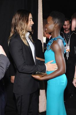 Actors Jared Leto (L) and Lupita Nyong'o attend the 20th Annual Screen Actors Guild Awards at The Shrine Auditorium