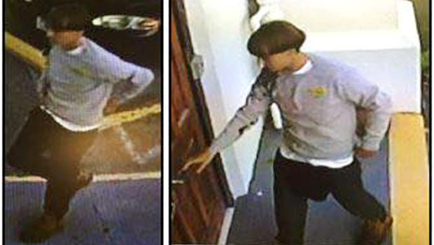 A suspect which police are searching for in connection with the shooting of several people at a church in Charleston, South Carolina is seen in stills from CCTV footage on a poster released by the Charleston Police Department June 18, 2015. A white gunman was still at large after killing nine people during a prayer service at an historic African-American church in Charleston, South Carolina, the city's police chief said on Thursday, describing the attack as a hate crime. REUTERS/Charleston Police Department/Handout via Reuters TPX IMAGES OF THE DAY      ATTENTION EDITORS - THIS PICTURE WAS PROVIDED BY A THIRD PARTY. REUTERS IS UNABLE TO INDEPENDENTLY VERIFY THE AUTHENTICITY, CONTENT, LOCATION OR DATE OF THIS IMAGE. THIS PICTURE IS DISTRIBUTED EXACTLY AS RECEIVED BY REUTERS, AS A SERVICE TO CLIENTS. EDITORIAL USE ONLY. NOT FOR SALE FOR MARKETING OR ADVERTISING CAMPAIGNS.