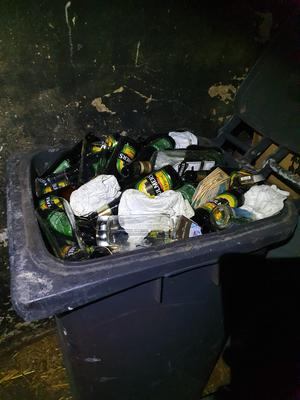 "Five kegs of beer, a ""significant                 amount"" of spirits and bottled beers, and                 various bar equipment, such as taps, gas and coolers,                 were seized during the search. Credit: An Garda Siochana"