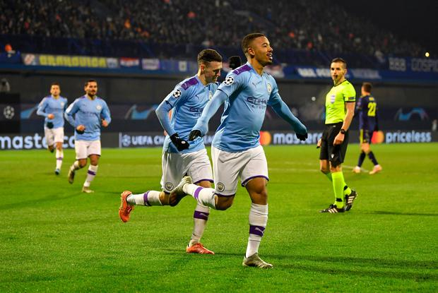 Gabriel Jesus fired a hat-trick for Man City against Dinamo Zagreb. (Photo by Dan Mullan/Getty Images)