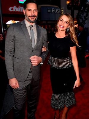"""Actors Sofia Vergara (R) and Joe Manganiello attend the Universal Pictures' """"Jurassic World"""" premiere at the Dolby Theatre on June 9, 2015 in Hollywood, California.  (Photo by Kevin Winter/Getty Images)"""