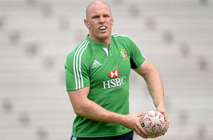 Paul O'Connell during squad training ahead of their game against Barbarian FC