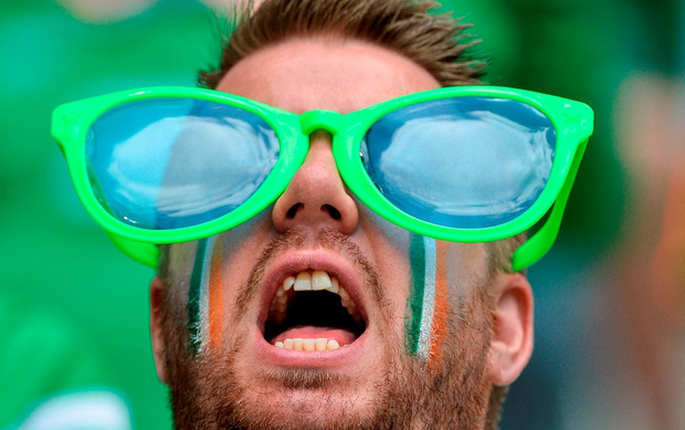 A devoted member of the Green Army. Photo by Stephen McCarthy/Sportsfile