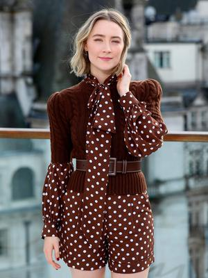 Saoirse Ronan attends the Little Women London photocall at The Corinthia Hotel on December 16, 2019 in London, England. Little Women releases in UK cinemas on 26th December.  (Photo by Tim P. Whitby/Getty Images for Sony)