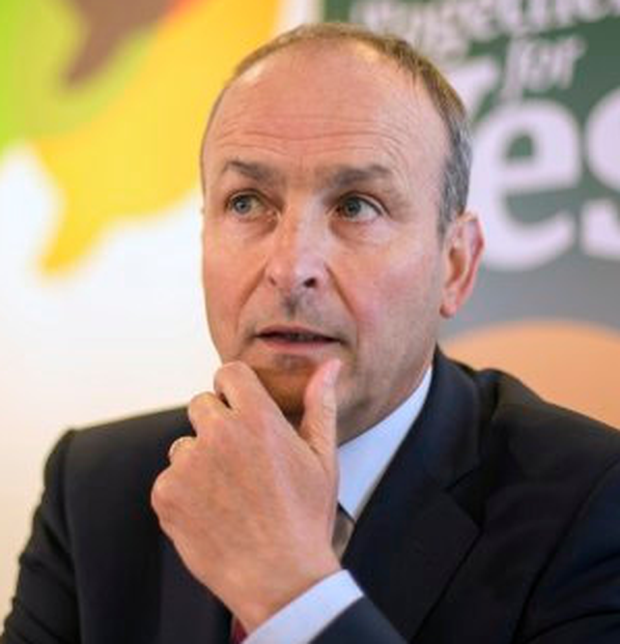 Fianna Fáil leader Micheál Martin saw his party trail their rivals by 13pc at the weekend. Photo: Mark Condren