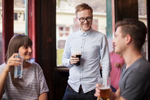 Drinking with friends at a local improves overall wellbeing, Oxford University found