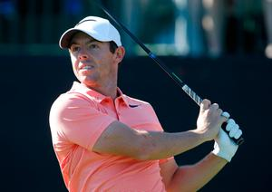 Rory McIlroy hits his tee shot to the par 3 first green during the third round of the Arnold Palmer Invitational golf tournament at Bay Hill Club & Lodge . Mandatory Credit: Reinhold Matay-USA TODAY Sports