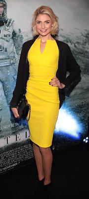 Model Claire Tracey at the Irish premiere screening of Interstellar at The Savoy Cinema, Dublin.