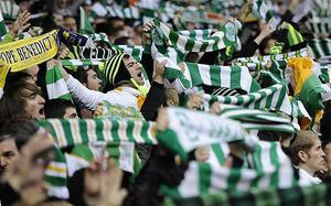 Celtic supporters were in full voice in Zagreb last night