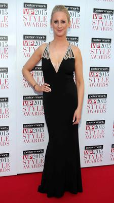Caroline Grace Cassidy on the Red Carpet at The Peter Mark VIP Style Awards 2015 at The Marker Hotel,Dublin. Pictures Brian McEvoy