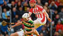 Adam O'Donovan of Glen Rovers (left) in action against Bill Cooper of Imokilly during the Cork SHC final last October. Completing fixtures in the Rebel county is always challenging. Photo: Eóin Noonan/Sportsfile