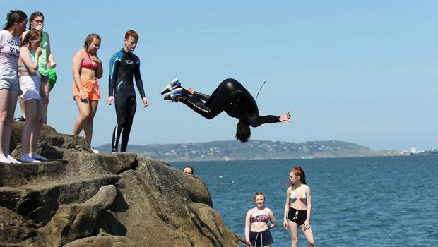 20/06/15 Good weather in the fortyfoot, Sandycove ,Co Dublin this afternoon.... Pic Stephen Collins/Collins Photos