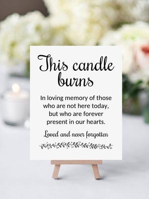 Loving memory candle sign from Orchard Berry on Etsy.com | Photo by Kate Maxwell Photography