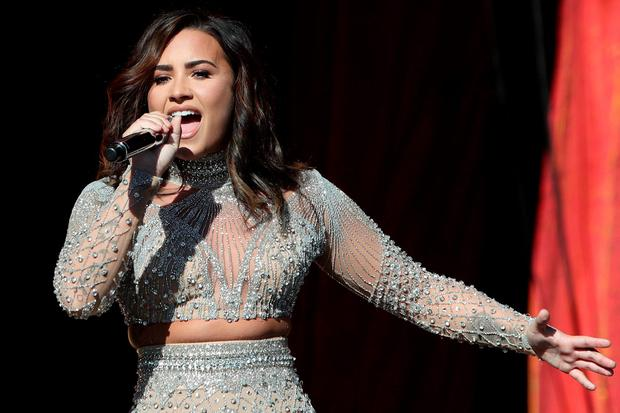 Demi Lovato performs at the Global Citizen Festival at Central Park in Manhattan, New York