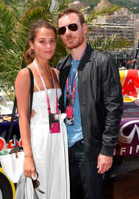 Alicia Vikander and Michael Fassbender attend the Infiniti Red Bull Racing Energy Station at Monte Carlo on May 24, 2015 in Monte Carlo, Monaco.  (Photo by Karwai Tang/Getty Images)