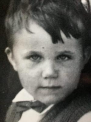 Young tv addict: Declan Lynch was unable to get colour TV or the BBC in Athlone when he was growing up