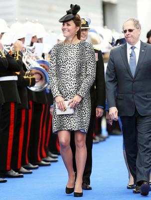 Catherine, Duchess of Cambridge arrives for the Princess Cruises ship naming ceremony at Ocean Terminal on June 13, 2013
