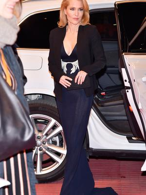 Actress Gillian Anderson attends the 'Viceroy's House' premiere during the 67th Berlinale International Film Festival Berlin at Berlinale Palace on February 12, 2017 in Berlin, Germany.  (Photo by Pascal Le Segretain/Getty Images)