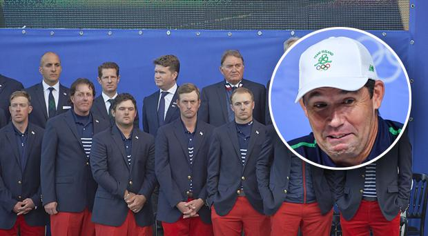 Padraig Harrington couldn't help having a dig at the US team