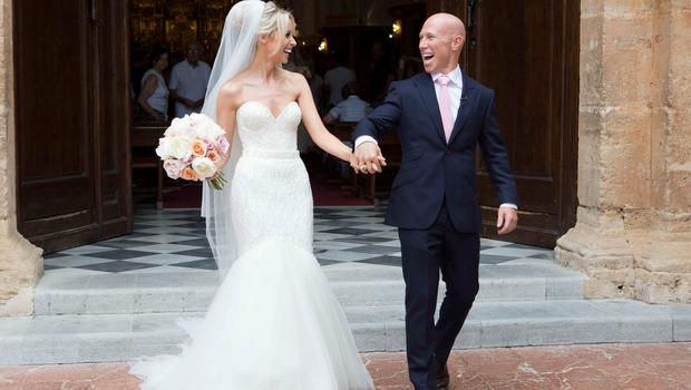 Irish rugby union player Peter Stringer wed Deborah O'Leary in Marbella. Picture: SolarPix
