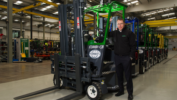 Martin McVicar, CombiLift, in their new factory in Monaghan Town. ©Rory Geary