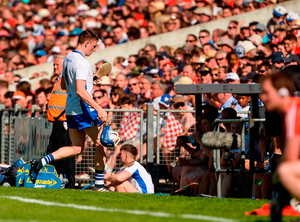 Austin Gleeson is substituted after a subdued display. The Waterford talisman was given a roving role but he needs to be positioned at centre-forward Photo: Piaras Ó Mídheach/Sportsfile