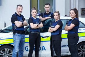 Some of the gardai featured in new documentary series The Guards: Inside the K
