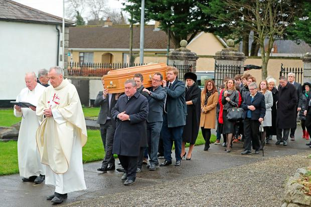 The funeral of Marian Finucane takes place at St Brigid's Church in Kill, County Kildare. Photo: Niall Carson/PA Wire