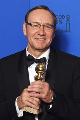"Actor Kevin Spacey poses with the award for Best Actor - TV Sereis, Drama for his role in ""House of Cards,"" in the press room at the 72nd annual Golden Globe Awards, January 11, 2015 at the Beverly Hilton Hotel in Beverly Hills, California. AFP PHOTO / FREDERIC J BROWN        (Photo credit should read FREDERIC J. BROWN/AFP/Getty Images)"