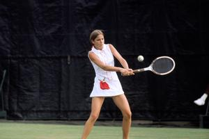 Chris Evert pictured at age 16.