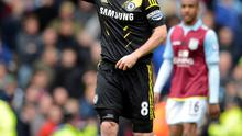 Chelsea's Frank Lampard celebrates after scoring his second goal today
