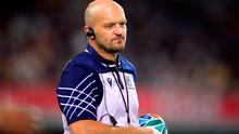 Scotland's coach Gregor Townsend before the 2019 Rugby World Cup match at the Misaki Stadium, Kobe, Japan.