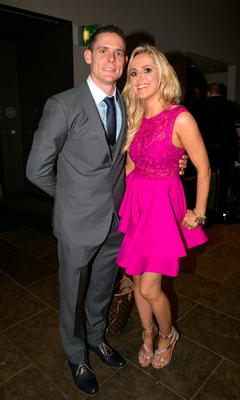 Stephen Cluxton and Joanne O'Connor  at the All Ireland Celebration Banquet in The Gibson Hotel