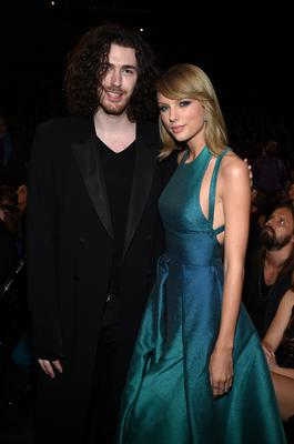 Hozier and Taylor Swift attend The 57th Annual GRAMMY Awards at the STAPLES Center