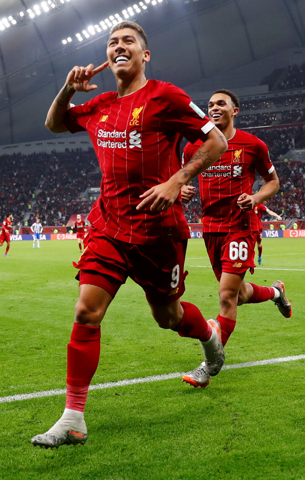 Liverpool's Roberto Firmino celebrates scoring his winner