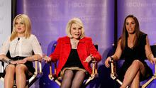 "Co-Executive producer Melissa Rivers (R), host Joan Rivers (C) and co-host Kelly Osbourne attend the E! panel for the television show ""Fashion Police"" during the Television Critics Association summer press tour in Pasadena, California, in this April 15, 2011 file photo"