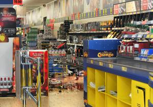 Lidl store in Ballincollig, Cork City following a break in on Sunday night. Pic: Daragh Mc Sweeney/Provision