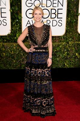 BEVERLY HILLS, CA - JANUARY 11: Actress Claire Danes attends the 72nd Annual Golden Globe Awards at The Beverly Hilton Hotel on January 11, 2015 in Beverly Hills, California.  (Photo by Jason Merritt/Getty Images)