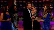 Perrie appeared on James Corden's Late Late Show in the US last night