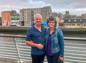 Gary Price and wife, Marie, in Drogheda. Photo: Ciara Wilkinson