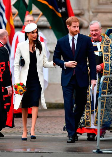 Prince Harry and Meghan Markle, leave following the Commonwealth Service at Westminster Abbey, London