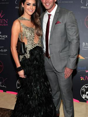 Suzanne Jackson and Dylan O'Connor pictured at the 2015 Miss Ireland Final in the Crowne Plaza Northwood in association with Gold Fever and Crown Brush. Picture: Brian McEvoy.