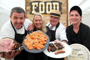 Picture shows from left Peter Ward, Country Choice; Birgitta Curtin, Burren Smoke House; Sean Kelly, Kelly's of Newport; Hazel Finney, Mossfield Organic Farm who are some of the producers and chefs creating Ireland on a plate for 20,000 Web Summit delegates through the Food Summit