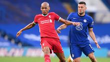 Liverpool's Fabinho in action against Chelsea's Mateo Kovacic during the Premier League clash at Stamford Bridge, London