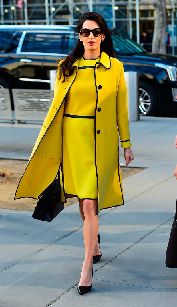 Amal Clooney is seen arriving at the