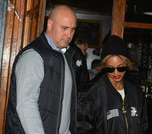 Beyonce and Jay-Z leaving Coppinger Row restaurant in 2014