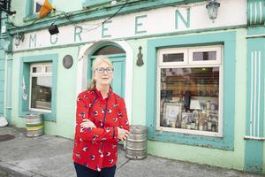 Sound of silence: Mary Murray, whose family have owned the famous Co Galway pub Green's since 1865, has no idea when she will reopen. Photo: Andrew Downes