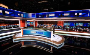 RTÉ News  newly refurbished RTÉ News Studio for the One O'Clock News bulletin 28/01/19