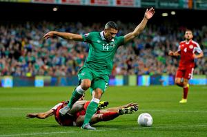 FIreland's Jonathan Walters in action with Georgia's Solomon Kverkvelia Action Images via Reuters / Paul Childs