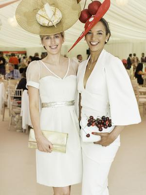 Heidi Higgins & Linda Malone pictured at the 150th Dubai Duty Free Irish Derby at the Curragh Racecourse on Saturday 27th June. Photo Anthony Woods.